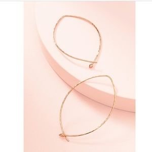 Stella & Dot New w/Box Hammered Large Hoops-Rose G